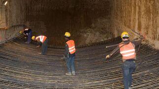Obras del Metro en Montequinto