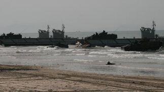 Maniobras de la Flota en el Retín