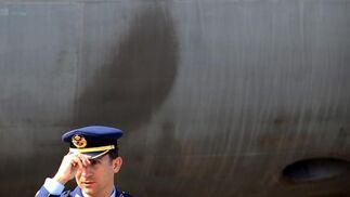 Don Felipe a los mandos de un Eurofighter