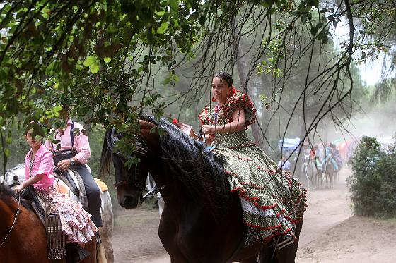 Jueves de romería hacia El Rocío