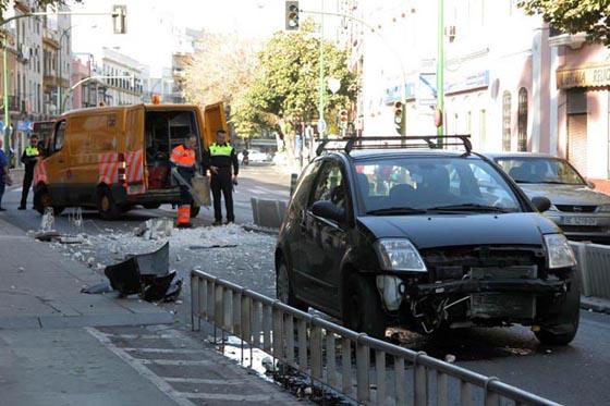 Accidentes en el separador del carril bus