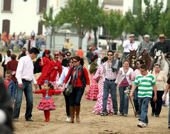 Misa romera al calor de la Blanca Paloma 2008