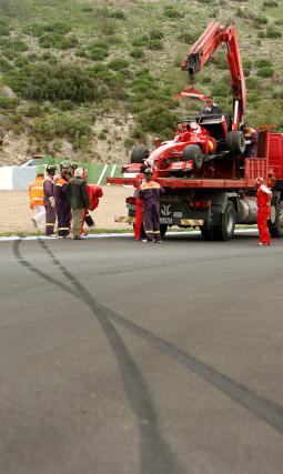 Felipe Massa sufrió una salida de pista en una de las curvas del Circuito.  Foto: Juan Carlos Toro
