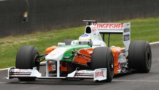 Fisichella estrenó el Force India en Jerez.  Foto: Juan Carlos Toro