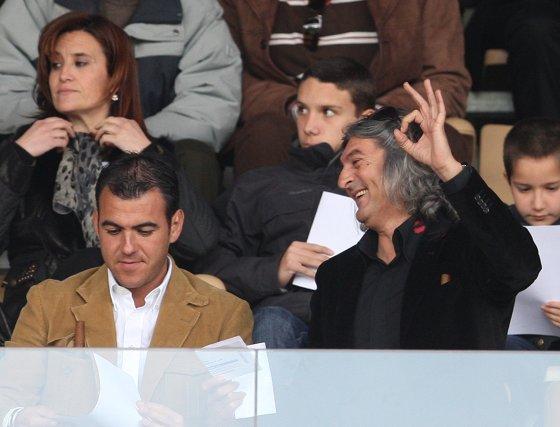 Manuel Moreno 'Moraíto' tampoco se quiso perder el partido y era muy optimista al comienzo.  Foto: Juan Carlos Toro