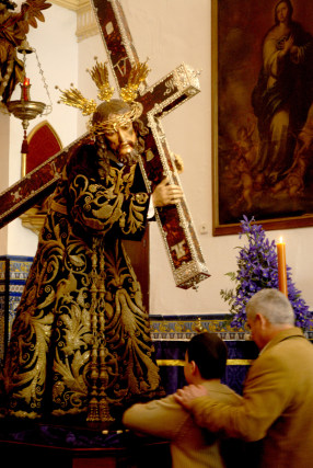 Nuestro Padre Jesús Nazareno, en San Juan de Letrán.  Foto: Tamara Sánchez