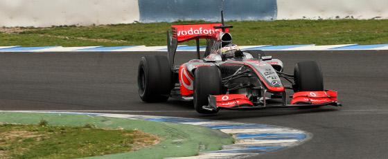 Pedro Martínez de la Rosa marcó el séptimo tiempo con el McLaren.  Foto: Juan Carlos Toro