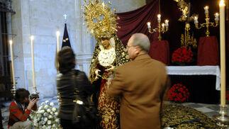 María Santísima de la Esperanza, en San Francisco.  Foto: Tamara Sánchez