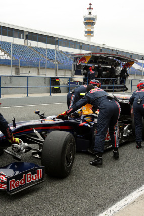 Sebastian Vettel, de Red Bull, marcó el mejor crono en Jerez.  Foto: Juan Carlos Toro