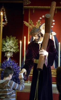 El Señor del Desamparo, en la parroquia de Las Viñas.  Foto: Tamara Sánchez