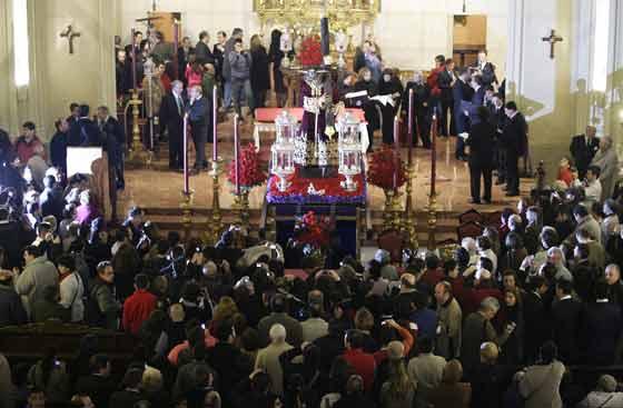 Vista del Cristo desde el coro de la iglesia.  Foto: Antonio Pizarro
