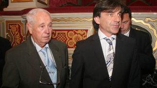 El ex seleccionador nacional de Copa Davis, Emilio Sánchez Vicario (a la derecha).  Foto: Belén Vargas