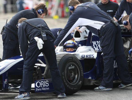 Nikko Rosberg (Williams)giró 125 veces al trazado jerezano firmando un mejor tiempo de 1:21.412, último de los participantes.   Foto: J. C. Toro