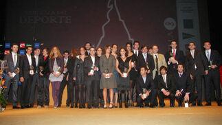 Premiados en la XXIX Gala del Deporte celebrada esta noche en Sevilla que otorga la Asociación Española de Prensa Deportiva.  Foto: Belén Vargas