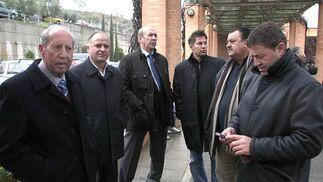 Antonio Bailón, Fernando Aguilera y Roberto Valverde.  Foto: Pepe Torres