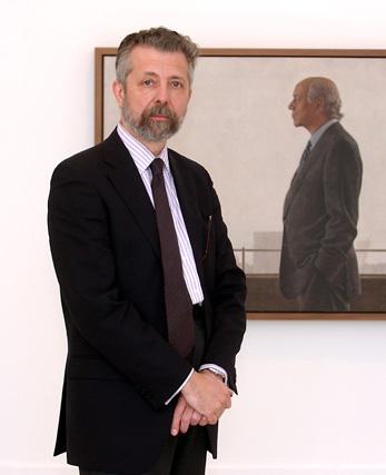 Hernán Cortés, autor de la exposición.  Foto: Juan Carlos Vázquez / Manuel Gómez