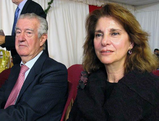 Pedro Serrera, presidente de la Academia de Legislación, e Isabel de León, marquesa de Méritos, presidenta de la Real Academia de Bellas Artes de Santa Isabel de Hungría.  Foto: VICTORIA RAMIREZ