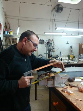 Preparación de las piezas.  Foto: J.P.