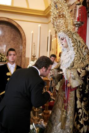 María Santísima de la Paz en su Mayor Aflicción, en la Capilla de Los Desamparados.  Foto: Vanesa Lobo