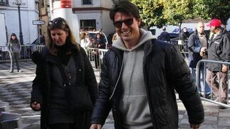 Tom Cruise, en la Plaza de Pilatos.  Foto: Victoria Hidalgo