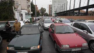 A media tarde el tráfico en esta vía estaba totalemnte colapsado.  Foto: Juan Carlos Muñóz