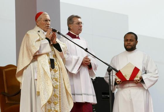 El cardenal arzobispo de Madrid, Antonio María Rouco Varela, durante su discurso a favor de la familia. / EFE