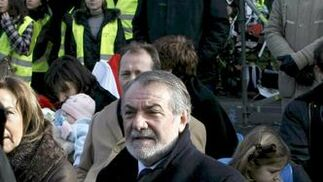 Miles de personas asisten en Madrid a las festividad de la Sagrada Familia convocada por Rouco Varela. / EFE