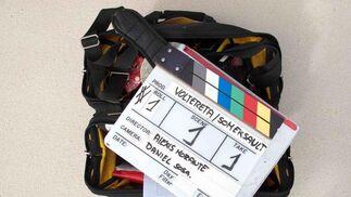 Imágenes del rodaje de 'Voltereta'en New Jersey, con vista al 'Skyline' de Manhattan. / J.D.