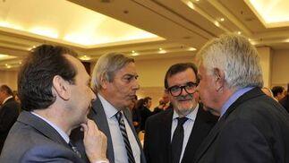 José Antonio Carrizosa, José Aureliano Recio, José Rodríguez de la Borbolla y Felipe González.  Foto: Juan Carlos Vázquez / Belén Vargas/ Manuel Gómez