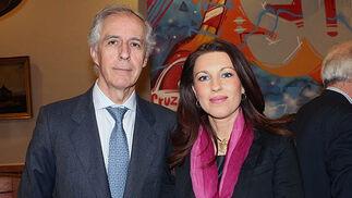 Fernando González de la Peña (Colegio de Abogados) y María Isabel Escartín, decana del Colegio de Procuradores.  Foto: Victoria Ramírez