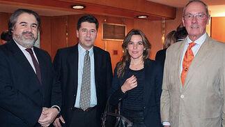 Miguel Velasco, Eduardo Osborne, Isabel Liñán y José María Escribano.  Foto: Victoria Ramírez