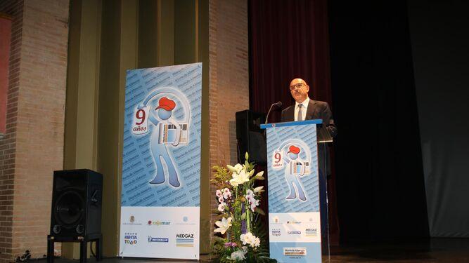 Discurso de apertura de la gala de conmemoración del noveno aniversario por parte del director de Diario de Almería, Antonio Lao Alonso.