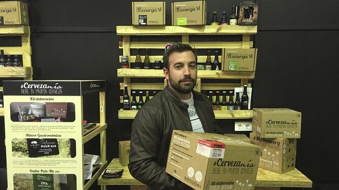 Pedro Rodríguez, CEO de la empresa sevillana Cervezanía.