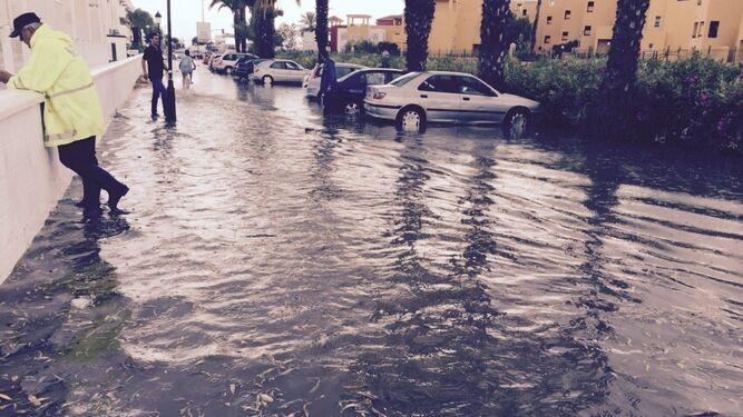 Las inundaciones son una constante en Vera cuando se producen lluvias torrenciales.