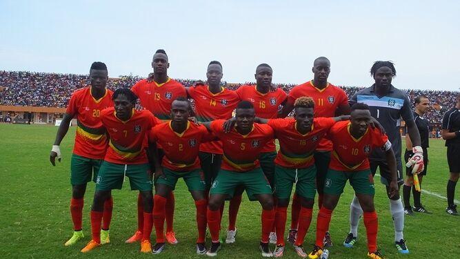 Selección de Guinea Bissau, en uno de los partidos de clasificación.