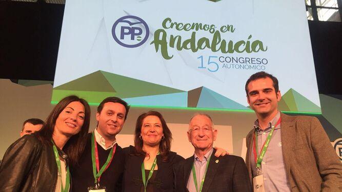 Rosario Soto, Javier A. García, Carmen Crespo, Gabriel Amat y Ramón Fdez.