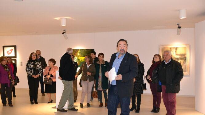 Antonio Quesada, coordinador de la muestra, el día de la inauguración.