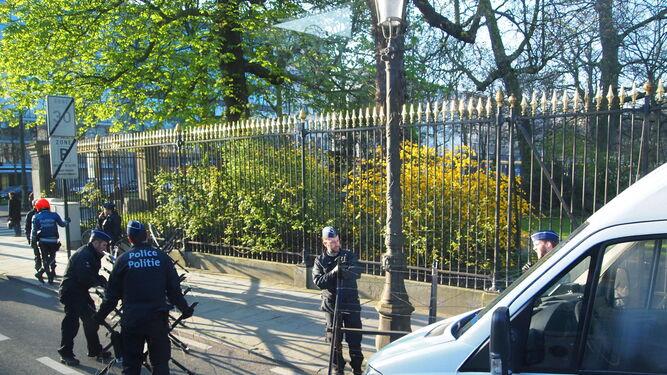 Considerables medidas de seguridad en las inmediaciones de la sede europea.