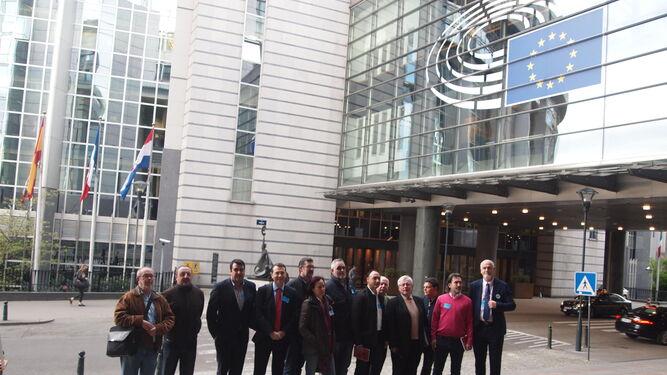 Despedida antes de volver de la delegación almeriense de la sede de la institución comunitaria en Bruselas.