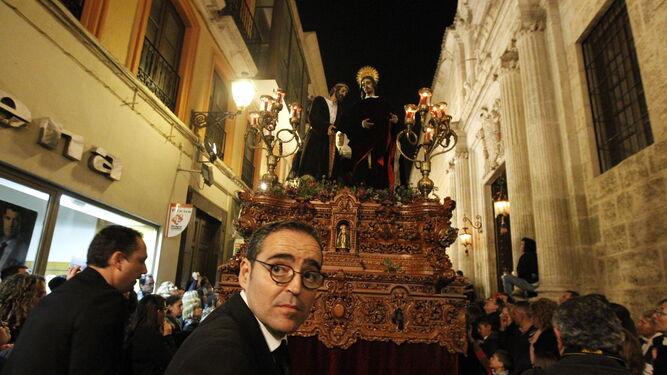 Basilio García, auxiliar de la Hermandad de la Santa Cena.