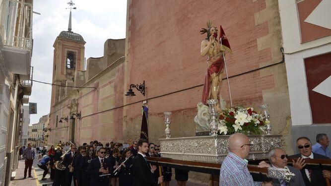 Procesión del Resucitado con la que se cierra la Semana Grande de Cuevas del Almanzora, declarada de Interés Turístico Andaluz.