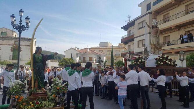 San Juan y el Resucitado en Purchena.