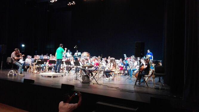 Ensayo de la banda sinfónica de El Ejido.