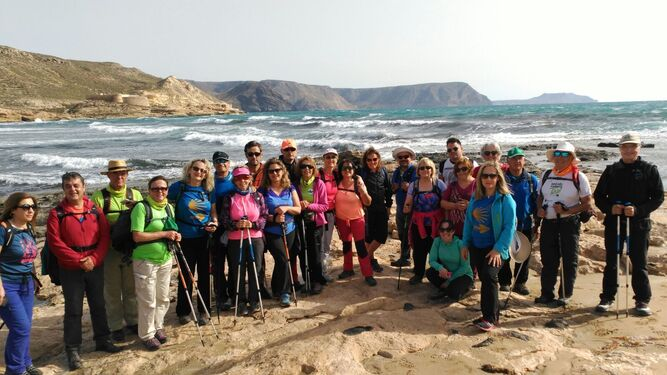 Los participantes durante la ruta celebrada el fin de semana pasado.