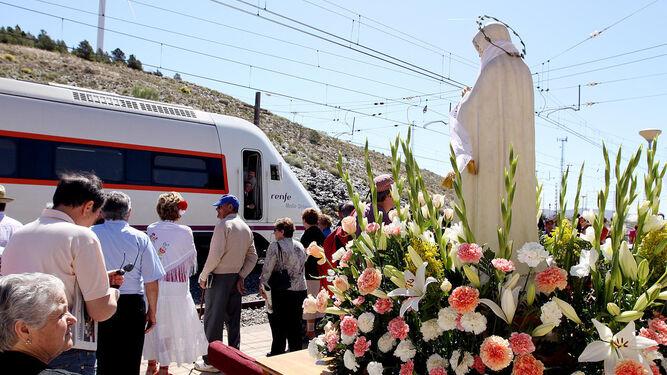 La Virgen de Fátima se reencuentra con el tren