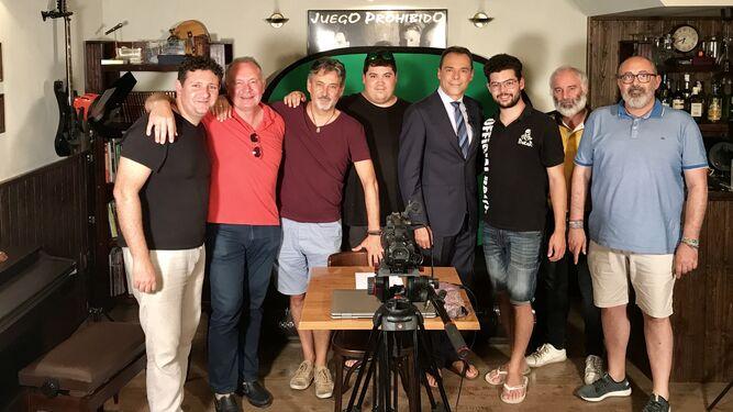 David Miralles, Ignacio Mañas, Antonio Casado, Erik Biskerra, Antonio Hermosa, Fullana, Pedro López y J. Guijarro