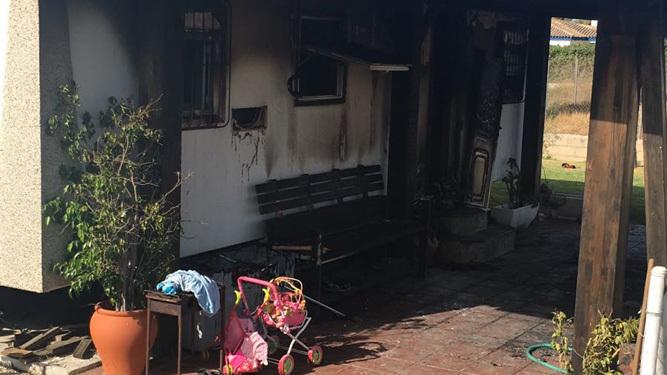 Estado en el que ha quedado la vivienda incendiada