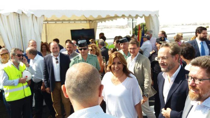 La presidenta inaugura el penúltimo tramo de la variante de Roquetas