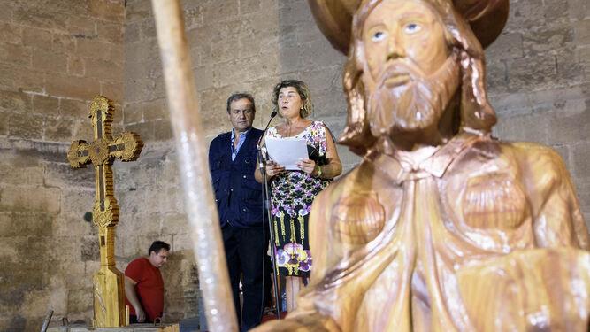 La concejala del Movimiento Vecinal , Rafaela Abad, en la plaza de la catedral de Almería.