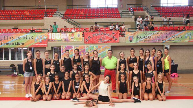 La campeona mundial y plata olímpica Alejandra Quereda acompañó a los participantes de gimnasia rítmica.